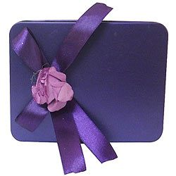 Mouth-Watering Chocolate Delights in a Purple Box