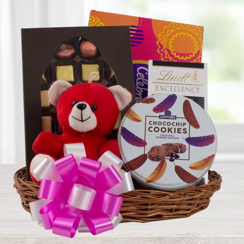 Angelic Chocolate Gift Hamper with Teddy