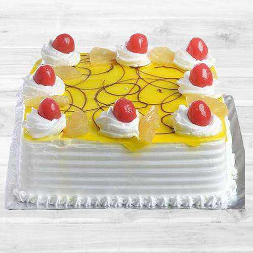 Enticing Eggless Pineapple Cake