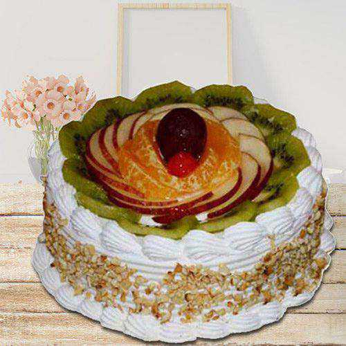 Delightful Fresh Fruit Cake