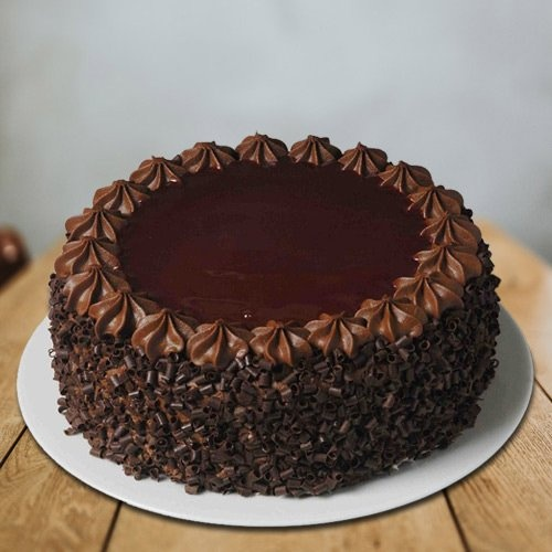 Scrumptious Chocolate Flavoured 1 Lb Eggless Cake from 3/4 Star Bakery