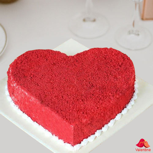 Heart Shape Red Velvet Cake