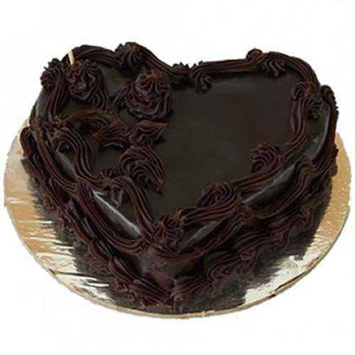 Delightful Heart-Shaped Chocolate Cake
