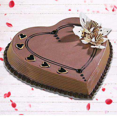 Tasty Heart-Shaped Coffee Cake