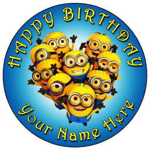 Sumptuous Minions Birthday Cake for Kids