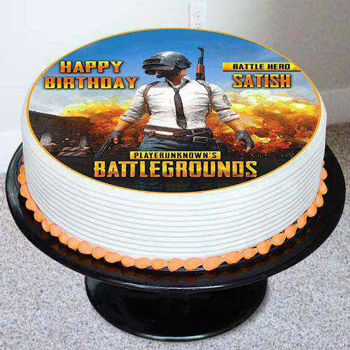 Marvelous PUBG Battleground Photo Cake