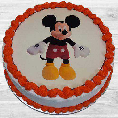 Delightful Kids Party Special Mickey Mouse Cake