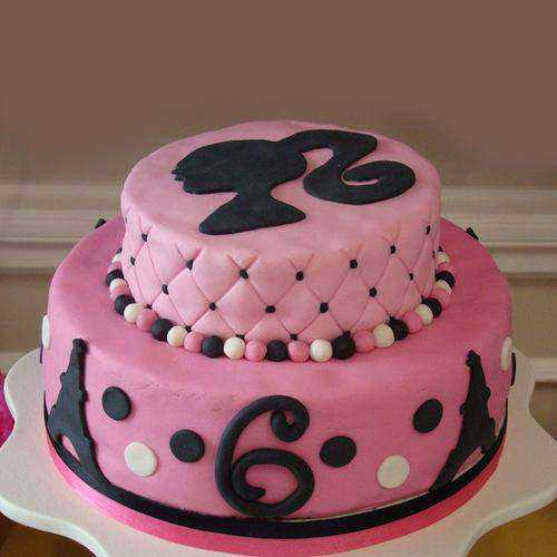 Remarkable Two Tier Barbie Cake for Birthday