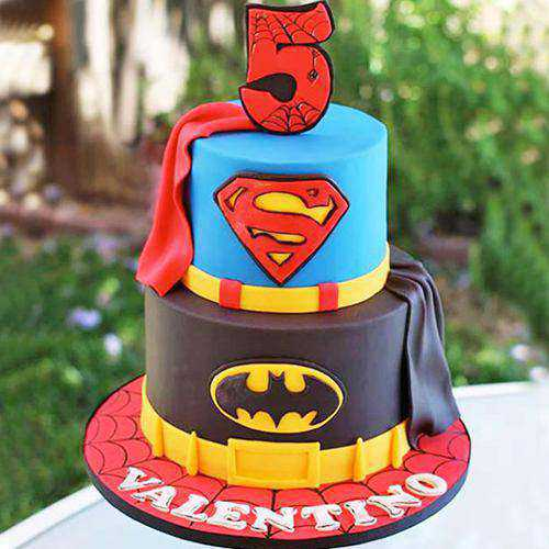 Amazing Two Tier Super Hero Cake for Kids