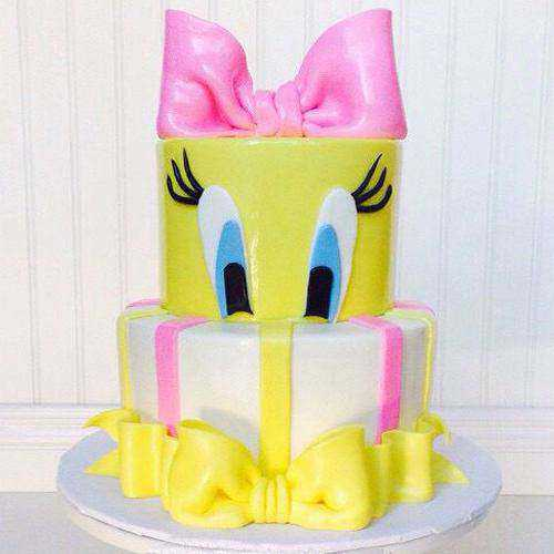 Irresistible 2 Tier Tweety Cake for Kids Party