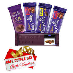 Chocolaty Delight with Cadbury Assortment and CCD Gift Voucher