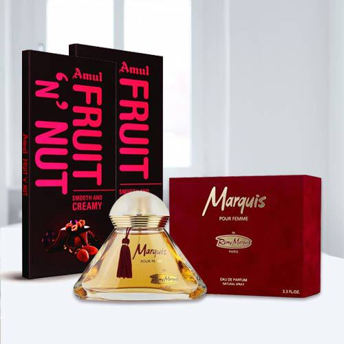 Remy Marquis Pour Perfume with Amul Chocolate
