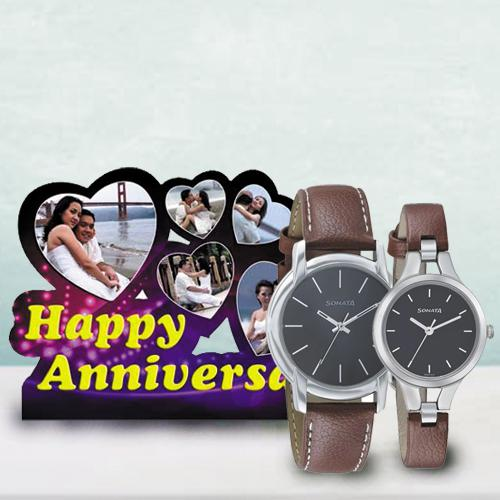Amusing Personalized Photo Frame N Sonata Watch for Parents