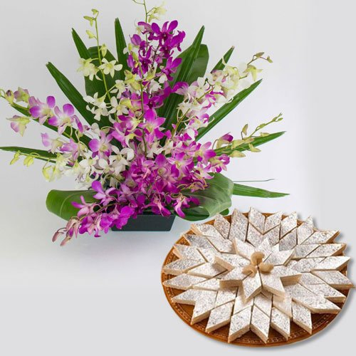 Orchids Basket�and Kaju Katli