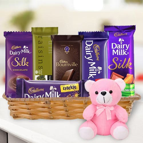 Online Gift Combo of Chocolates N Teddy