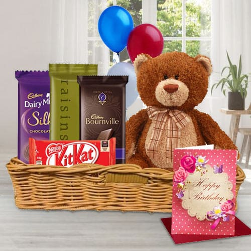 Gift Hamper of Birthday Gifts N Chocolates