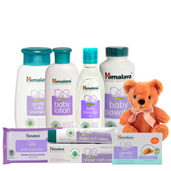 Exclusive Himalaya Baby Care Gift Pack with Teddy