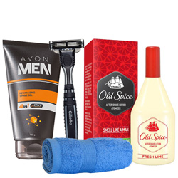 Savvy Shaving Hamper for Men