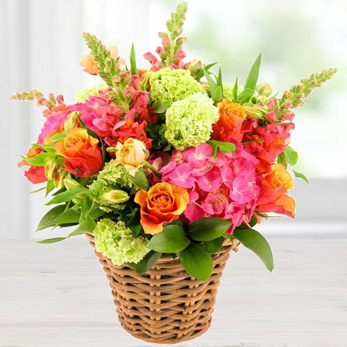 Stunning Basket Arrangement of Flowers