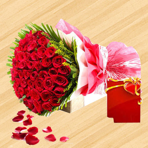 Blushing Red Roses Bouquet