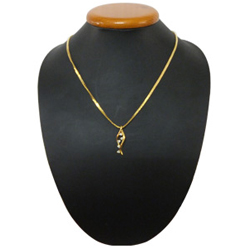Outstandingly Designed Gold Plated Necklace with Twirling Lights Pendant