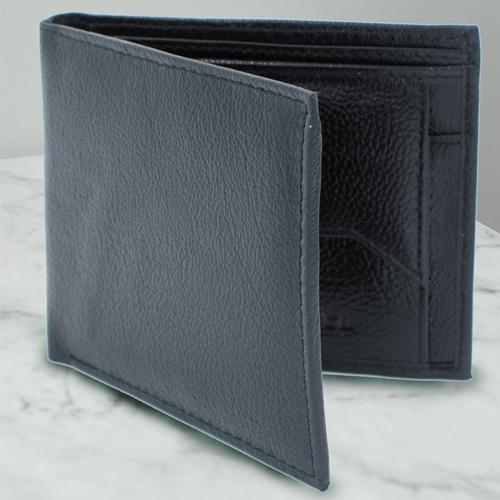 Impressive Black Leather Wallet for Gents