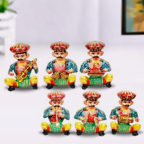 Exquisite Set of 6 Rajasthani Musician Bawla Set