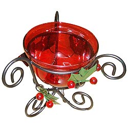 Remarkable Red Candle Stand Gift