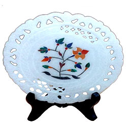 Remarkable marbel designer plates with stand