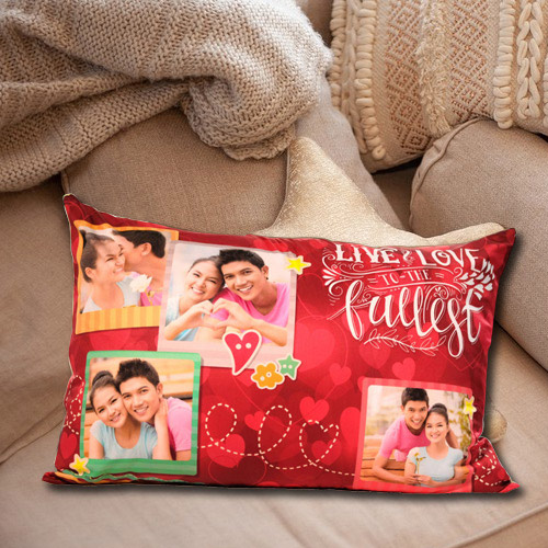 Amazing Rectangular Personalized Photo Cushion