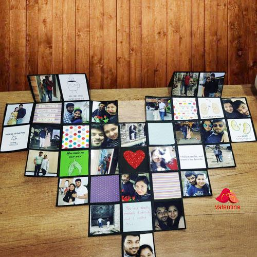 Superb Personalized Heart Maze Card