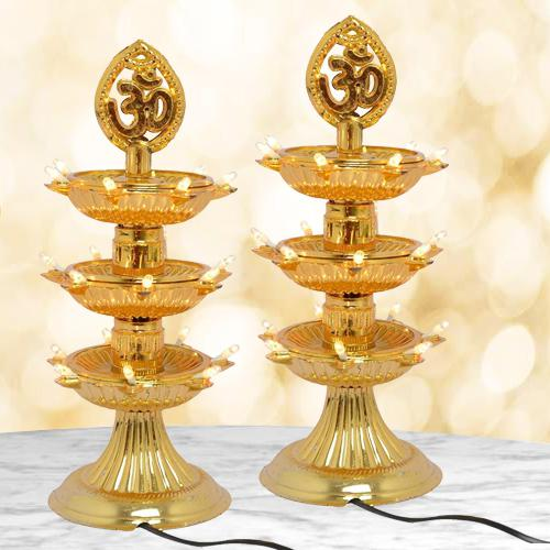 Exclusive Dual LED Bulb Lights Diya