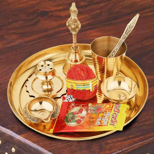Exclusive Puja Samagri in a Thali