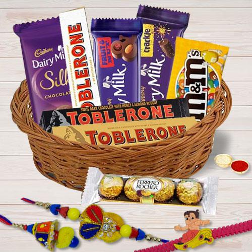 Imported Chocolates Rakhi Gifts