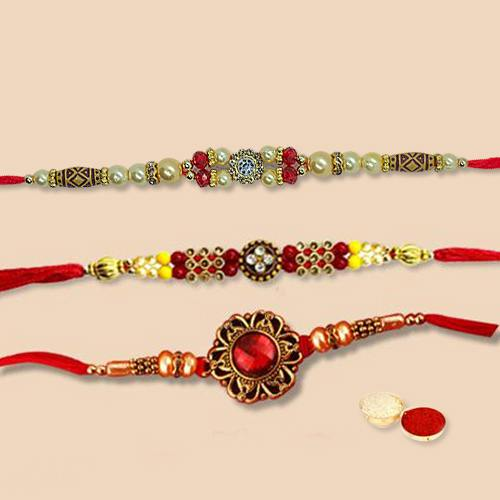 Designer Rakhi Set 3 Pcs