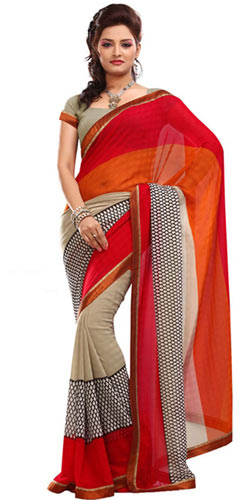 Stylish Faux Georgette Saree