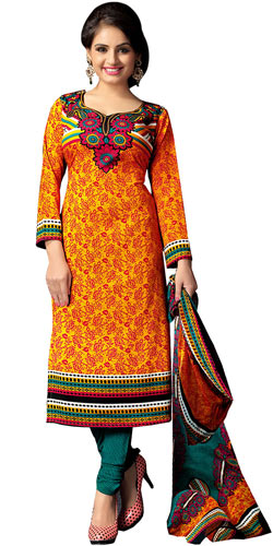 Fascinating Collection of Art Silk Printed Suit in Multi Colour