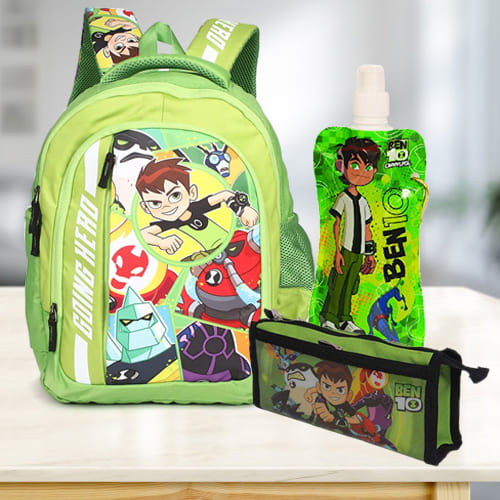Wonderful Ben 10 School Utility Gift Hamper for Kids