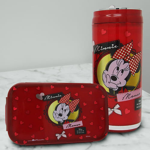 Attractive Minnie Mouse Lunch Box n Sipper Bottle