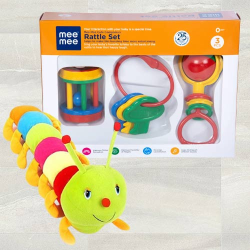 Exclusive Luvlap Fish Teether Rattles N Caterpillar Soft Toy