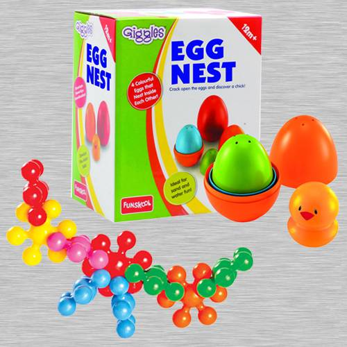 Marvelous Funskool Kiddy Star Links N Giggles Nesting Eggs