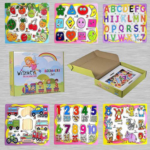 Marvelous Set of 6 Puzzle Board